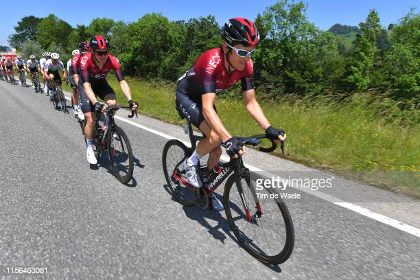 Geraint Thomas of United Kingdom and Team INEOS / Peloton / during the 83rd Tour of Switzerland Stage 3 a 1623km stage from Flamatt to Murten 448m /...