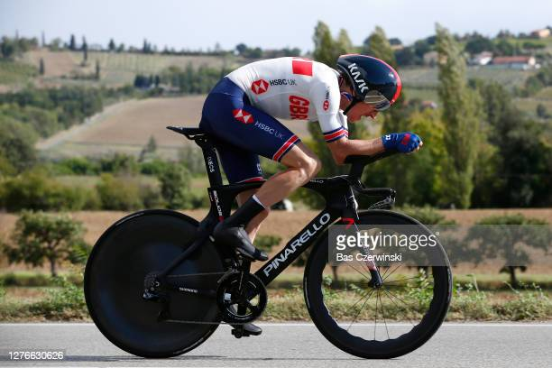 Geraint Thomas Wales of The United Kingdom / during the 93rd UCI Road World Championships 2020, Men Elite Individual Time Trial a 31,7km race from...