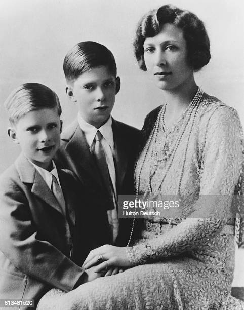 Gerald and George Laschelles with their mother, Princess Mary, the Princess Royal, King George V's only daughter.