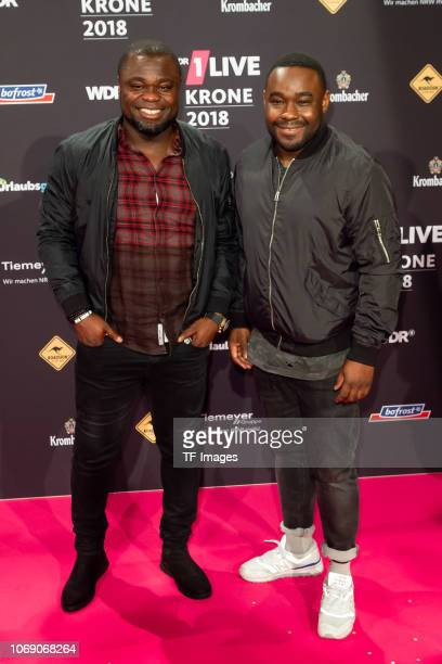 Gerald Asamoah and Nelson Müller attend the 1Live Krone radio award at Jahrhunderthalle on December 6 2018 in Bochum Germany