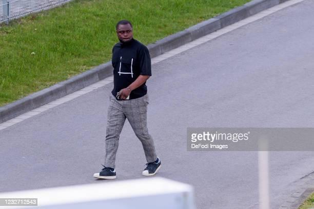 Gerald Asamoah of FC Schalke 04 looks on during the FC Schalke 04 Training Session on May 03, 2021 in Gelsenkirchen, Germany.