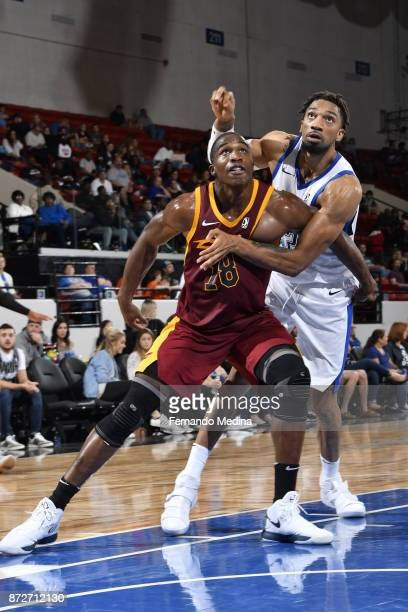 Gerald Beverly of the Canton Charge boxes out against Khem Birch of the Lakeland Magic during the game on November 10 2017 at RP Funding Center in...