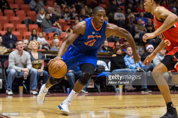 Gerald Beverly of the Canton Charge handles the ball against the Windy City Bulls on December 15 2017 at the Canton Memorial Civic Center in Canton...