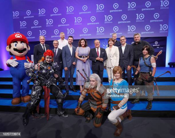 Gerald Boese Chief Executive Officer of Koelnmesse Spanish Minister of Culture and Sports Jose Guirao Pete Samuels Managing Director Supermassive...