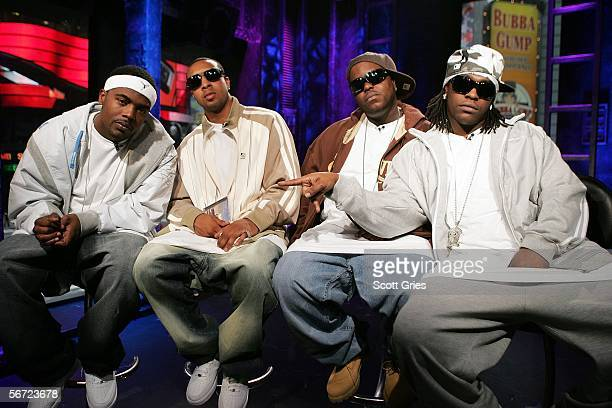 Gerald Buddie Tiller Jamall Pimpin Willingham Bernard Jizzal Man Leverette and Maurice Parlae Gleaton of Dem Franchize Boyz appear onstage during a...