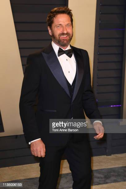 Gerald Butler attends the 2019 Vanity Fair Oscar Party hosted by Radhika Jones at Wallis Annenberg Center for the Performing Arts on February 24 2019...