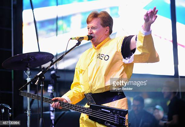 Gerald Casale of Devo performs during CBGB Music Film Festival 2014 Times Square Concerts on October 12 2014 in New York City