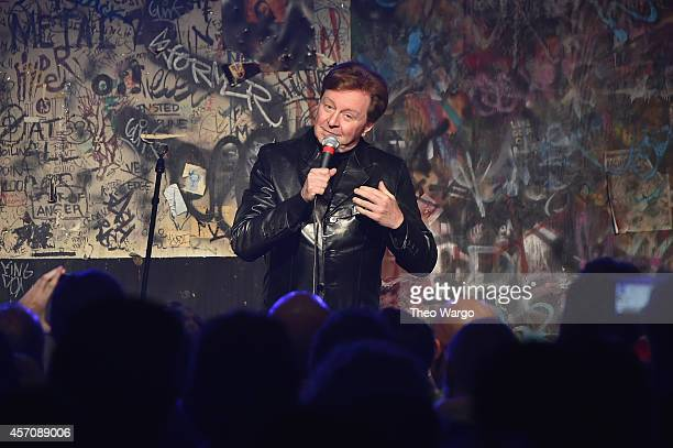 Gerald Casale of Devo speaks onstage during the CBGB Music Film Festival 2014 as CBGB Presents Jane's Addiction with the CBGB Icon Award on October...