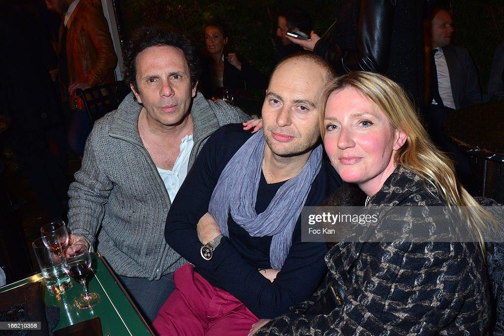 Gerald Cohen, Jerome Cario and Alexandra Turcat attend La Closerie Ses Lilas Literary Awards 2013 - 6th Edition At La Closerie Des Lilas on April 9, 2013 in Paris, France.