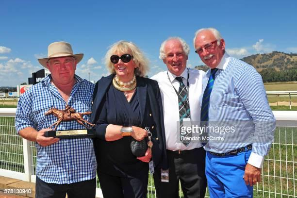 Gerald Egan Race Sponsor Helen McPhee Committee Member terry Doolan and MC Rob Gaylord after winning the The Ollie Cox Memorial BM64 Handicap at...