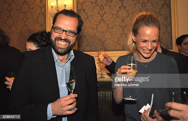 Gerald Fleischhacker and Mirjam Weichselbraun attend the the Romy Akademie Preis 2016 at Ballsaal Quadrille at Grand Hotel on April 14, 2016 in...