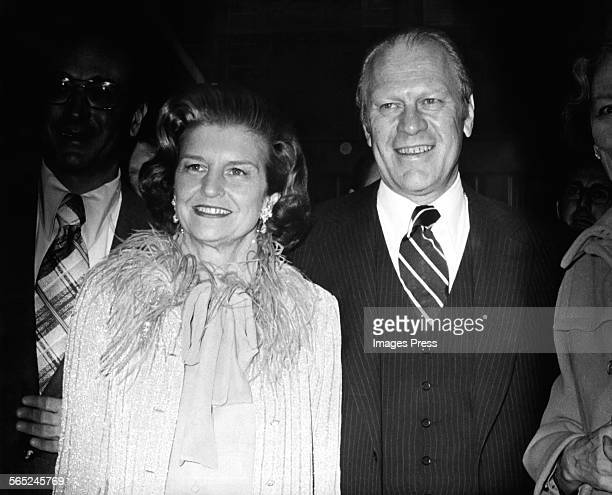 Gerald Ford and Betty Ford circa 1975 in New York City
