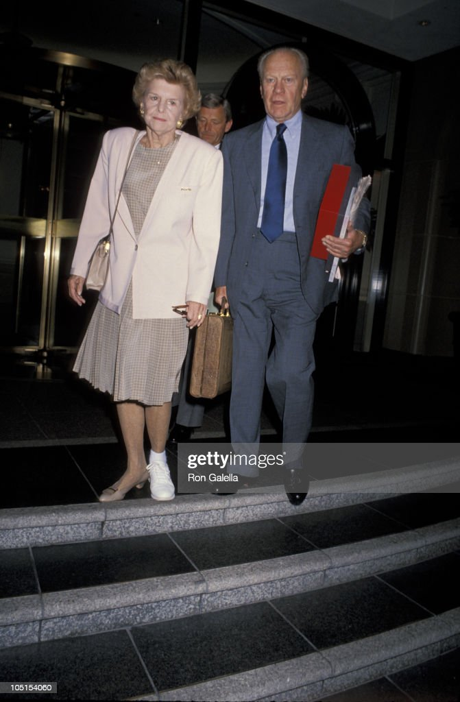 Gerald and Betty Ford Leave Hotel And Head To Palm Springs
