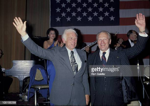 Gerald Ford and Perry Dureyea during Republican Dinner at Amrericana Hotel in New York City NY United States