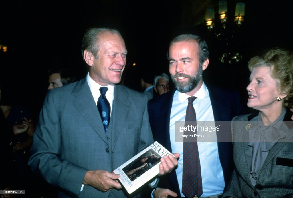 Gerald Ford, David Hume Kennerly and Betty Ford : News Photo