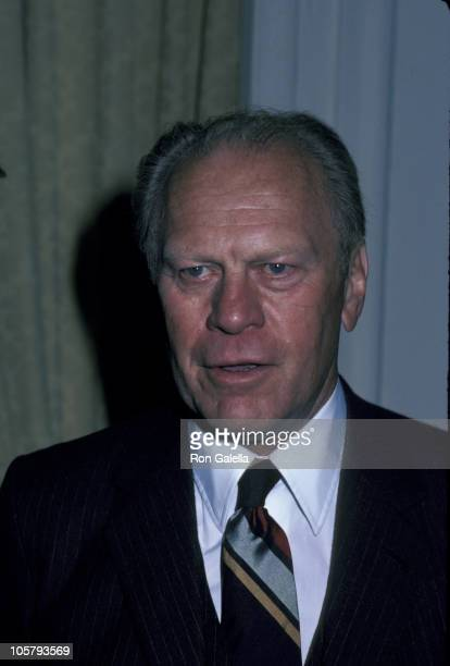 Gerald Ford during Gerald Ford Outside The Pierre Hotel at Pierre Hotel in New York City NY United States