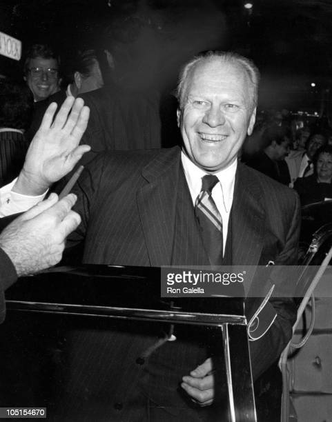 Gerald Ford during Opening Of '42nd Street' On Broadway at Winter Garden Theater in New York NY United States