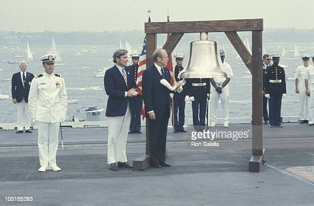 Gerald Ford during United States Bicentennial Celebration at On Board The USS Forrestal In New York Harbor in New York City NY United States