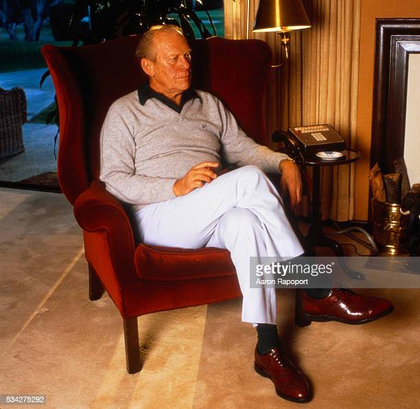 Gerald Ford in his home