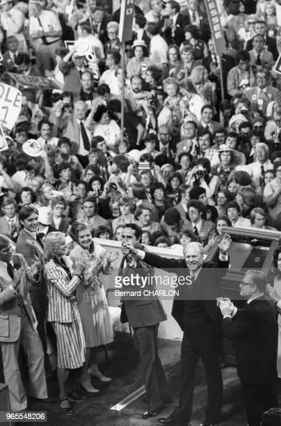 Gerald Ford lors d'une convention républicaine à Kansas City le 19 aout 1976 EtatsUnis