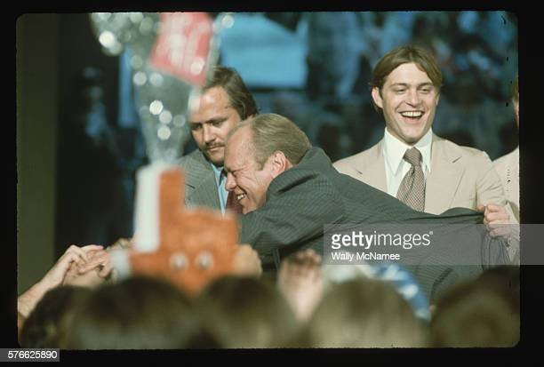 Gerald Ford Shaking Hands with Supporters