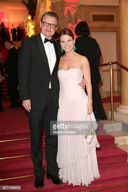 Gerald Gerstbauer and Kristina Sprenger during the 27th ROMY Award 2015 at Hofburg Vienna on April 16 2016 in Vienna Austria