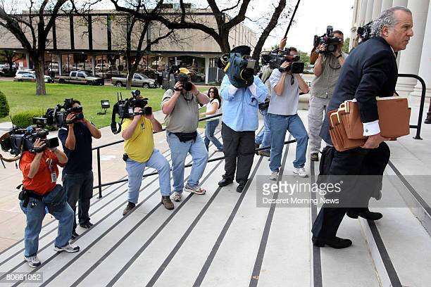 Gerald Goldstein an attorney for the FLDS church arrives at the Tom Green County Courthouse April 9, 2008 in San Angelo, Texas. Some 416 children...