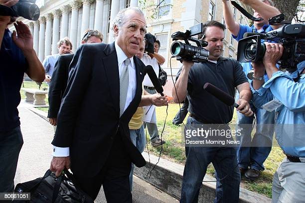 Gerald Goldstein an attorney for the FLDS church leaves the Tom Green County Courthouse after a presenting their case April 9, 2008 in San Angelo,...