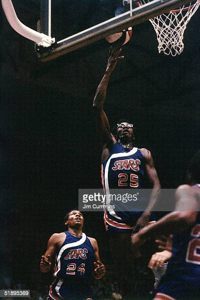 Gerald Govan of the ABA's Utah Stars go up for a layup during an ABA game in Utah 1974 NOTE TO USER User expressly acknowledges and agrees that by...