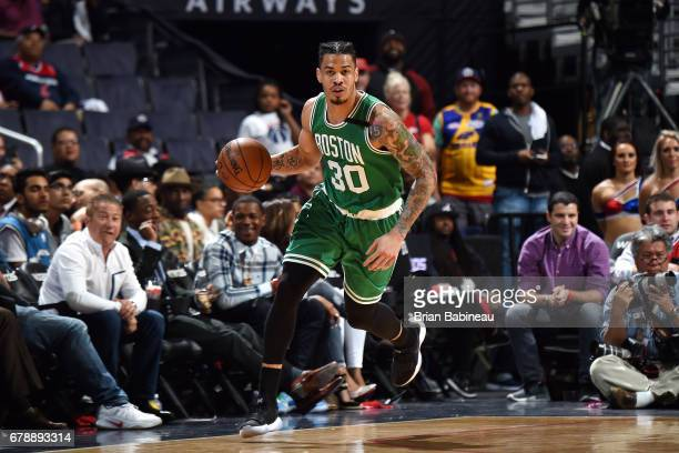1e56c154394 Gerald Green of the Boston Celtics handles the ball during the game against  the Washington Wizards