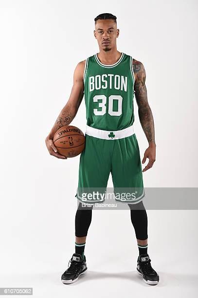 Gerald Green of the Boston Celtics poses for a portrait during 20162017 Boston Celtics Media Day at TD Garden on September 26 2016 in Boston...