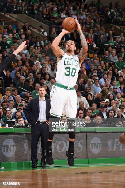 Gerald Green of the Boston Celtics shoots the ball against the Chicago Bulls during Game Five of the Eastern Conference Quarterfinals of the 2017 NBA...