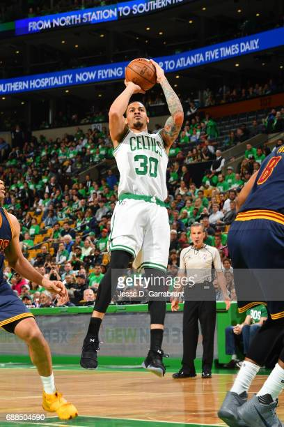 Gerald Green of the Boston Celtics shoots the ball during the game against the Cleveland Cavaliers during Game Five of the Eastern Conference Finals...