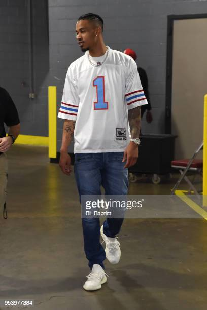Gerald Green of the Houston Rockets arrives at the stadium before the game against the Utah Jazz in Game Two of Round Two of the 2018 NBA Playoffs on...