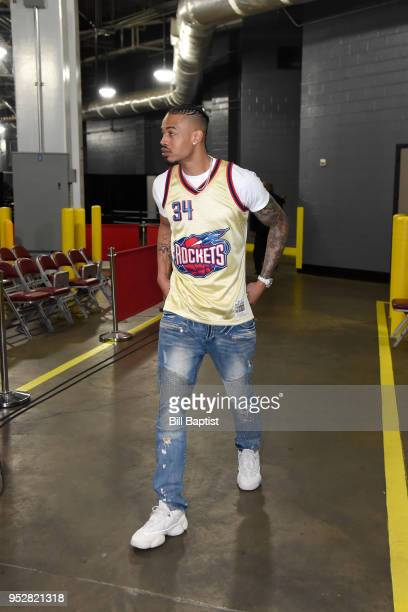 Gerald Green of the Houston Rockets arrives before Game One of the Western Conference Semifinals against the Utah Jazz during the 2018 NBA Playoffs...