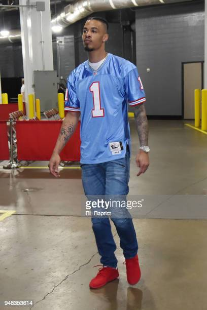 Gerald Green of the Houston Rockets arrives before Game Two of Round One of the 2018 NBA Playoffs on April 18 2018 at the Toyota Center in Houston...