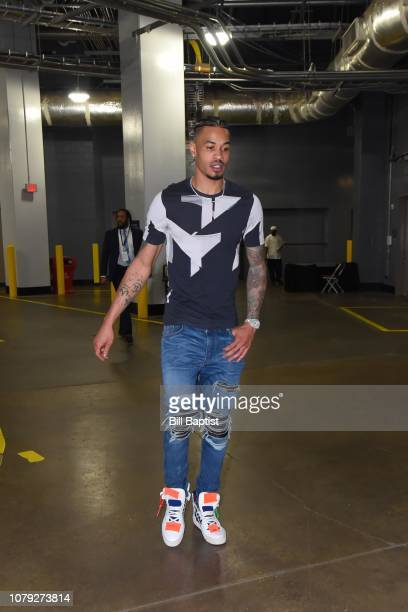 Gerald Green of the Houston Rockets arrives prior to a game against the Denver Nuggets on January 7 2019 at the Toyota Center in Houston Texas NOTE...