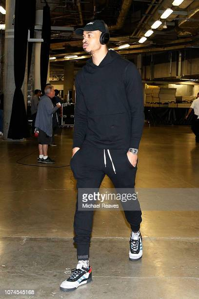 Gerald Green of the Houston Rockets arrives to the arena prior to the game against the Miami Heat at American Airlines Arena on December 20 2018 in...