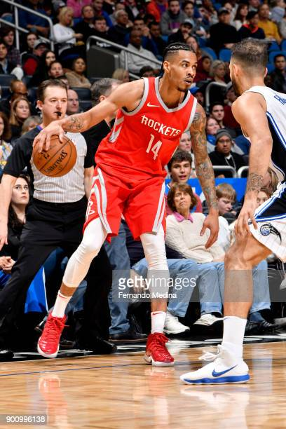 Gerald Green of the Houston Rockets handles the ball against the Orlando Magic on January 3 2018 at the Amway Center in Orlando Florida NOTE TO USER...