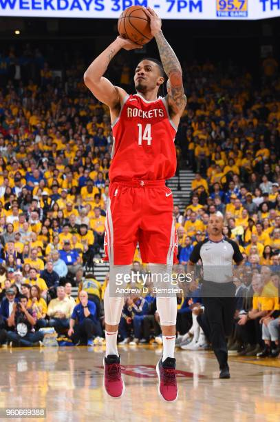 Gerald Green of the Houston Rockets shoots the ball against the Golden State Warriors during Game Three of the Western Conference Finals during the...