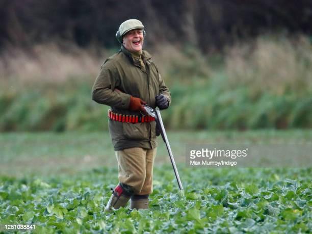 Gerald Grosvenor, 6th Duke of Westminster seen on a pheasant shoot near Sandringham on November 25, 2006 in King's Lynn, England.