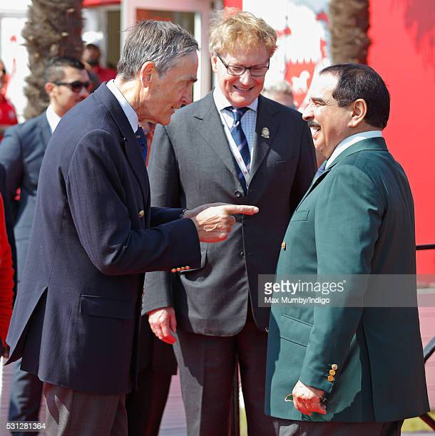 Gerald Grosvenor Duke of Westminster and King Hamad bin Isa Al Khalifa of Bahrain attend the Royal Windsor Endurance Event on day 3 of the Royal...