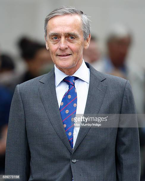 Gerald Grosvenor Duke of Westminster attends a national service of thanksgiving to mark Queen Elizabeth II's 90th birthday at St Paul's Cathedral on...