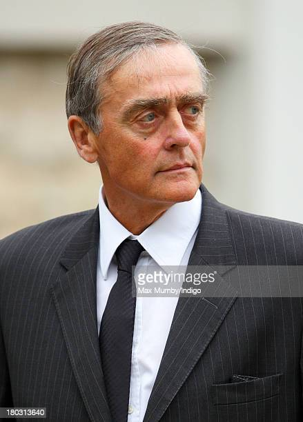 Gerald Grosvenor, Duke of Westminster attends a requiem mass for Hugh van Cutsem who passed away on September 2nd 2013, at Brentwood Cathedral on...