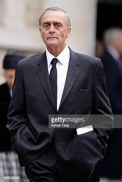 Gerald Grosvenor Duke Of Westminster attends a Requiem Mass for Hugh van Cutsem who passed away on September 2nd 2013 at Brentwood Cathedral on...