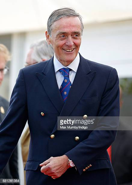 Gerald Grosvenor Duke of Westminster attends the Royal Windsor Endurance Event on day 3 of the Royal Windsor Horse Show in Windsor Great Park on May...