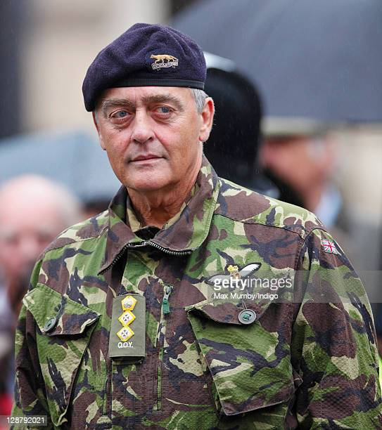 Gerald Grosvenor, The Duke of Westminster attends the parade as The Queen's Own Yeomanry celebrate their 40th anniversary by exercising the Freedom...