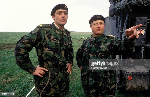Gerald Grosvenor, The Duke of Westminster dressed in army camouflage uniform on manoeuvres with the Territorial Army.