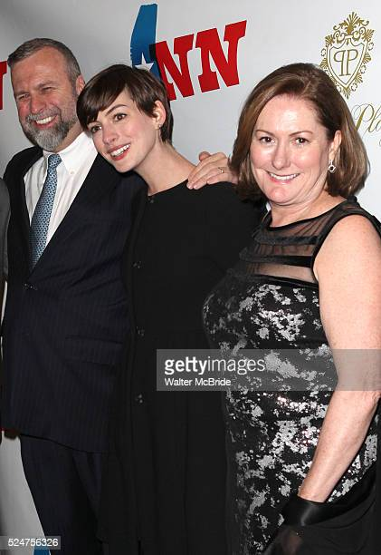 Gerald Hathaway Anne Hathaway Kate McCauley Hathaway attending the Opening Night Performance of 'Ann' starring Holland Taylor at the Vivian Beaumont...