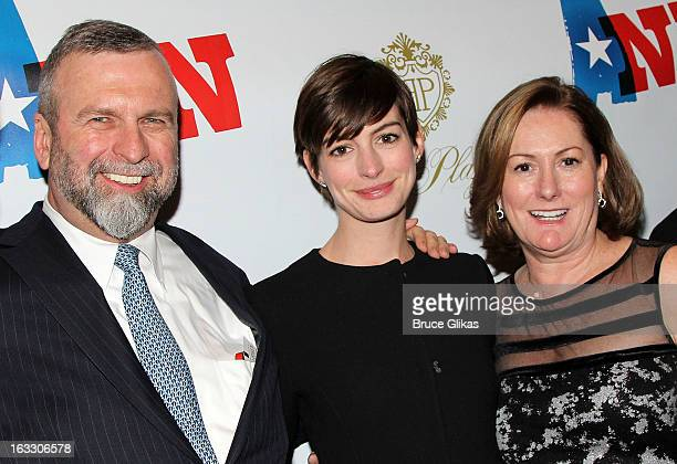 Gerald Hathaway daughter Anne Hathaway and mother Producer Kate McCauley Hathaway attend the opening night of Ann at Vivian Beaumont Theatre at...